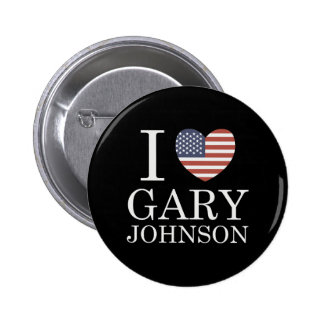 I Love Gary Johnson 2 Inch Round Button