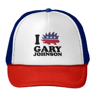 I Love Gary Johnson - Libertarian - -  Trucker Hat