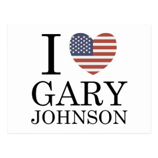 I Love Gary Johnson Postcard
