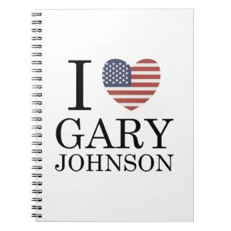I Love Gary Johnson Spiral Note Book