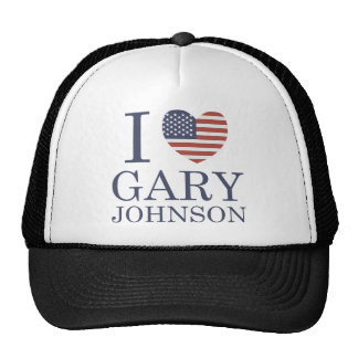 I Love Gary Johnson Trucker Hat