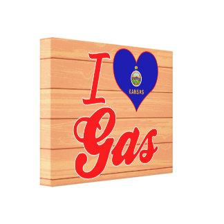 I Love Gas, Kansas Gallery Wrap Canvas