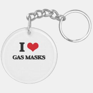 I love Gas Masks Key Chain