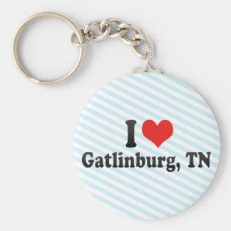 I Love Gatlinburg, TN Basic Round Button Keychain