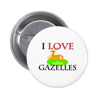 I Love Gazelles 2 Inch Round Button
