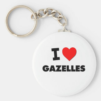 I Love Gazelles Keychain