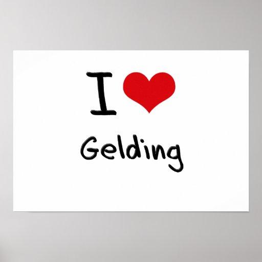 I Love Gelding Posters