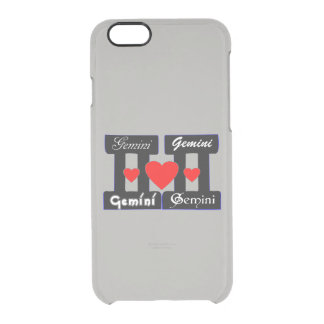 ♊★😍I Love Gemini-Best-Zodiac Sign Fabulous Clear iPhone 6/6S Case