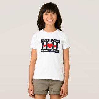 ♊★😍I Love Gemini-Best-Zodiac Sign Fine Jersey T-Shirt