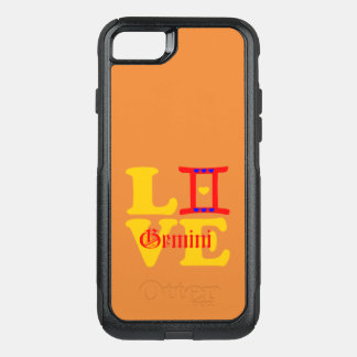 ♊★😍I Love Gemini-Best-Zodiac Sign OtterBox Fab OtterBox Commuter iPhone 8/7 Case
