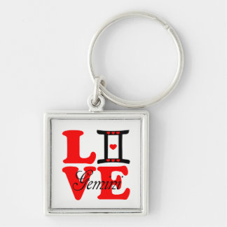 ♊★😍I Love Gemini-Best-Zodiac Sign Premium Keychain