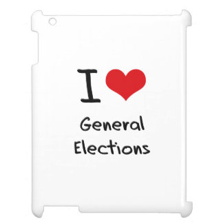 I Love General Elections iPad Case