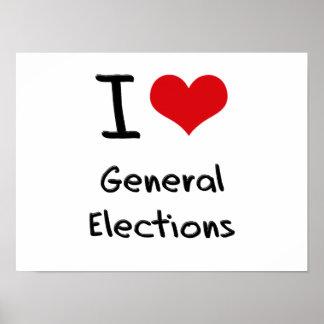 I Love General Elections Print