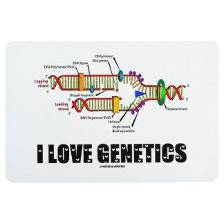 I Love Genetics DNA Replication Molecular Biology Floor Mat
