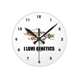 I Love Genetics (DNA Replication) Round Clock