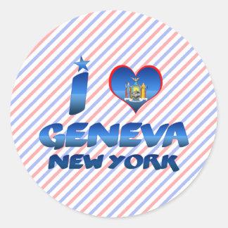 I love Geneva, New York Classic Round Sticker