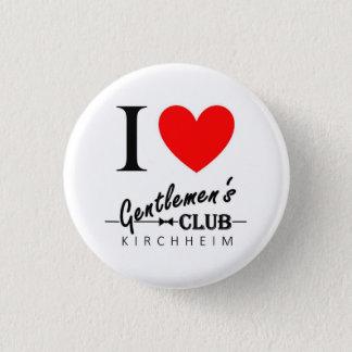 "I love Gentlemen's Club Small Button ""Kirchheim"""