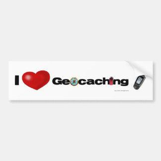 I Love Geocaching bumper sticker
