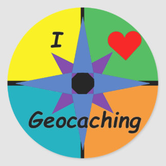 I Love Geocaching sticker (Small)