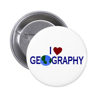 I Love Geography 2 Inch Round Button