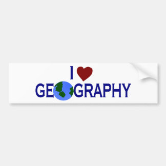 I Love Geography Bumper Sticker