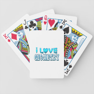 I Love Geometry Bicycle Playing Cards