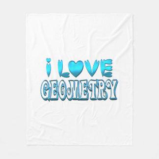 I Love Geometry Fleece Blanket