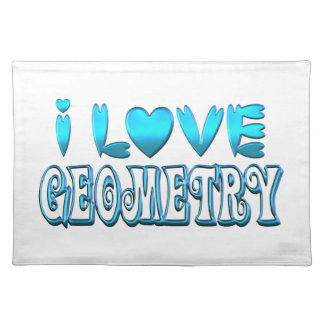 I Love Geometry Placemat