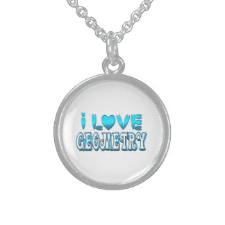 I Love Geometry Sterling Silver Necklace