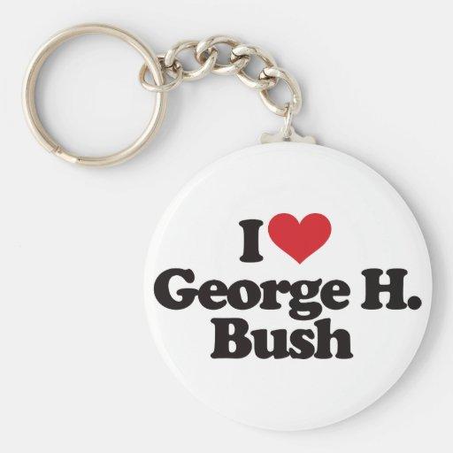I Love George H Bush Keychains