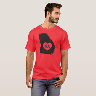 I Love Georgia State Men's Basic Dark T-Shirt