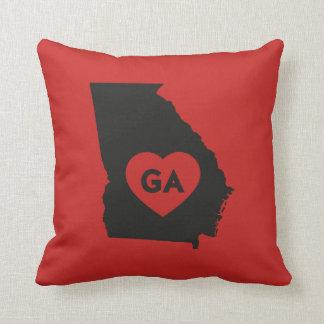 I Love Georgia State Throw Pillow