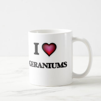 I love Geraniums Coffee Mug