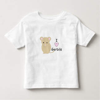 I Love Gerbil Toddler T-shirt