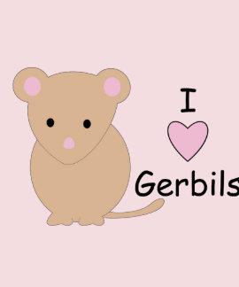 I Love Gerbil Tshirts