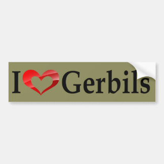 I Love Gerbils Bumper Sticker