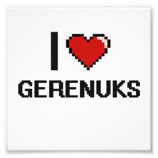 I love Gerenuks Digital Design Art Photo