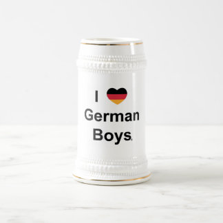 I Love German Boys - BEER JUG Beer Stein