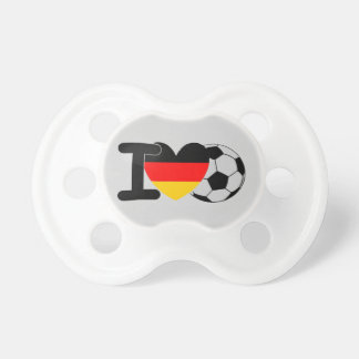 I Love German Football Baby Pacifiers