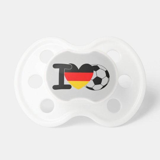 I Love German Football Baby Pacifiers