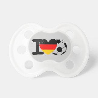 I Love German Football Pacifier
