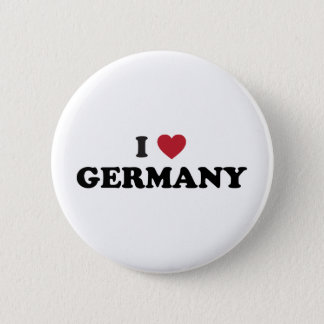 I Love Germany 2 Inch Round Button