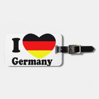 I LOVE Germany Luggage Tag