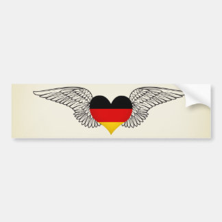 I Love Germany -wings Bumper Sticker