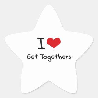I Love Get Togethers Star Sticker