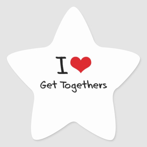 I Love Get Togethers Stickers