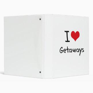 I Love Getaways 3 Ring Binders
