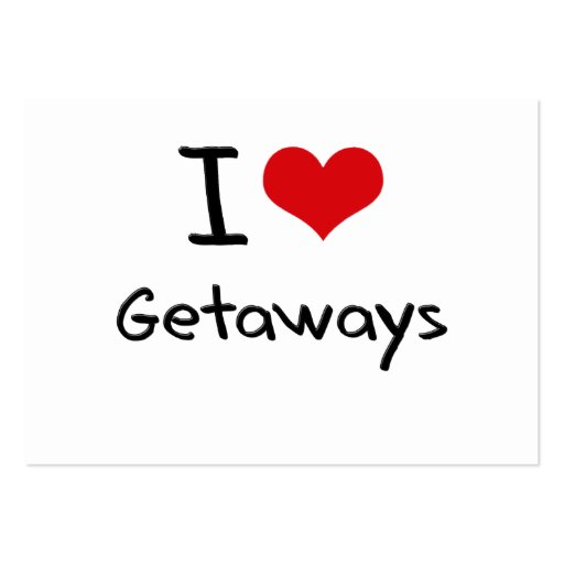 I Love Getaways Business Card Templates