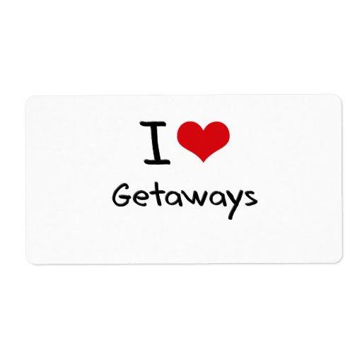 I Love Getaways Shipping Labels