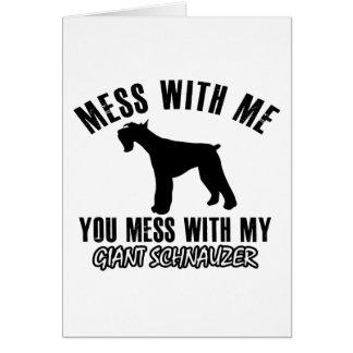 I love Giant schnauzer Greeting Card
